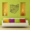 Ohio Map Wooden Wall Art