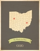 Ohio My Roots State Map Art Print - Blue