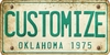 Oklahoma Custom License Plate Art