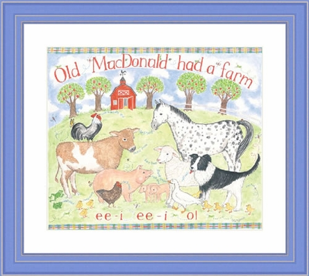 Old MacDonald Had A Farm Framed Lithograph