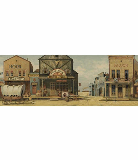 Old West Personalized Wall Mural