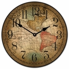 Old World Map Kids Wall Clock