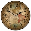 Old World Map Kids Clock