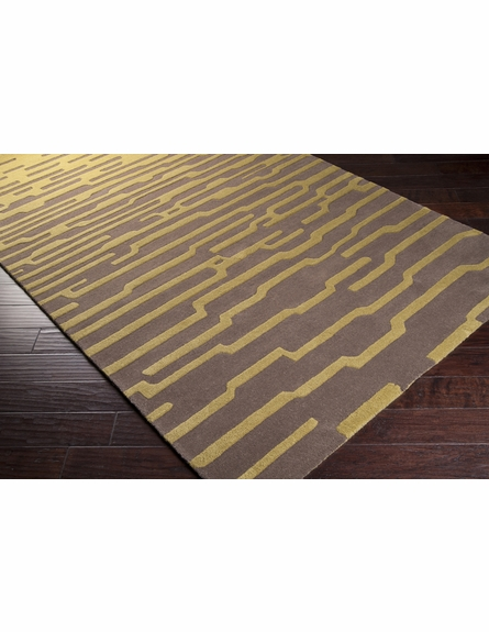 Olive Striation Harlequin Rug