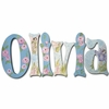 Olivia Blue Fairies Hand Painted Wall Letters