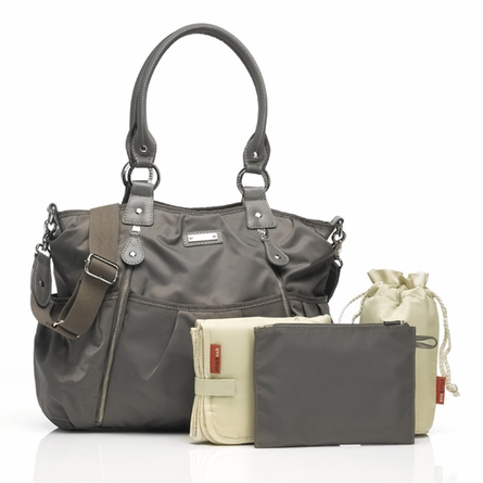 Olivia Diaper Bag in Grey