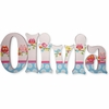 Olivia Owls Hand Painted Wall Letters