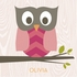 Olivia the Owl Canvas Wall Art