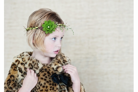 Olivine in Broccoli Green Felt Headband