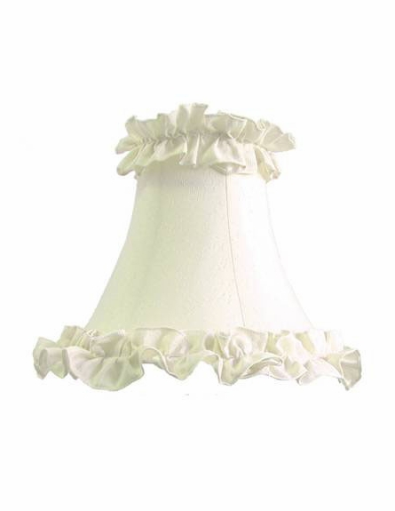 On Sale Antique Pink Cottage One Arm Wall Sconce with White Ruffle Shade