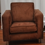 On Sale Ava Toddler Chair - Brown Microsuede