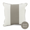 On Sale Banded Square Pillow in Taupe