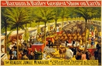 On Sale Barnum And Bailey Circus Vintage Wall Art - 16.5 x 10 Inches