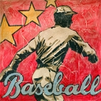 Baseball Star Canvas Wall Art