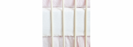 On Sale Bella Cotton Poplin Crib Sheet - Champagne