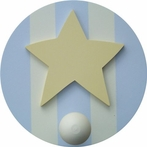 On Sale Blue & Brown Star Wall Peg - Set of Two