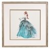 On Sale Blue Evening Dress Framed Fashion Barbie Print