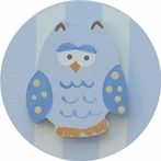 On Sale Blue Owl Drawer Knob