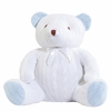 Cable Knit Huge Teddy Bear in Blue & White