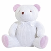 Cable Knit Huge Teddy Bear in Pink & White