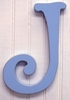 On Sale Capital Wall Letters in Blue - Letter J