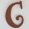On Sale Capital Wall Letters in Chocolate Brown - Letter C