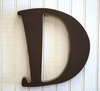 On Sale Capital Wall Letters in Chocolate Brown - Letter D