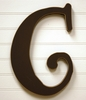 On Sale Capital Wall Letters in Chocolate Brown - Letter H