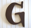 On Sale Capital Wall Letters in Chocolate Brown - Letter I