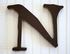 On Sale Capital Wall Letters in Chocolate Brown - Letter N