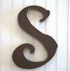On Sale Capital Wall Letters in Chocolate Brown - Letter S