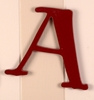 On Sale Capital Wall Letters in Red - Letter A