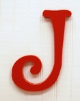 On Sale Capital Wall Letters in Red - Letter J
