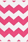 On Sale Chevron Indoor/Outdoor Rug in Fuchsia and White - 3 x 5 Feet