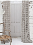 On Sale Chichi Sable Solid Petal Window Curtain - 54 x 96 Inches