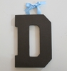 On Sale Chocolate Varsity Wooden Hanging Letters - Letter D