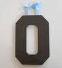On Sale Chocolate Varsity Wooden Hanging Letters - Letter O