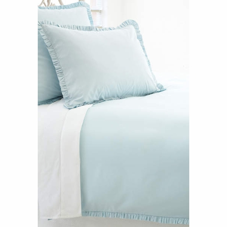 On Sale Classic Ruffle Sky Twin Duvet Cover