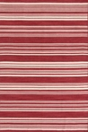 On Sale Cottage Stripe Crimson Wool Woven Rug - 2 x 3 Feet