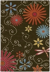 On Sale Dancing Flowers Goa Rug - 5 x 8 Feet
