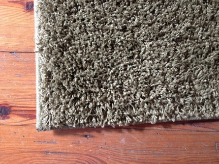 On Sale Dark Olive Green Cut Pile Rug - 7.5 x 5.3 Feet
