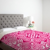 On Sale Decographic Pink Duvet Cover - Queen