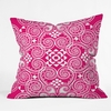 On Sale Decographic Pink Throw Pillow - 20 Inches