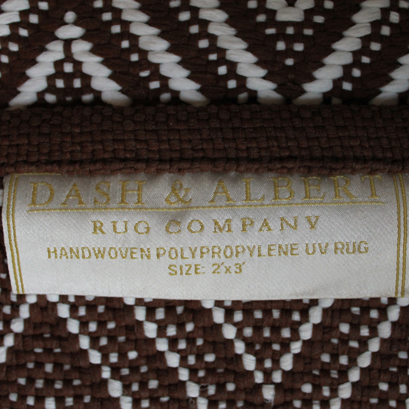 Sale Diamond Indoor Outdoor Rug in Brown and White 2