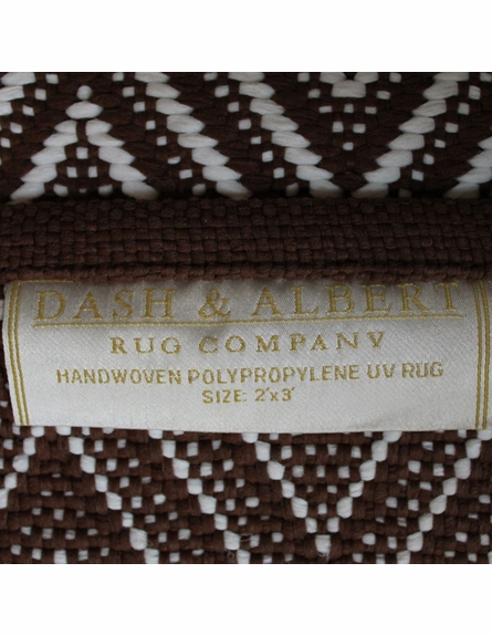 On Sale Diamond Indoor/Outdoor Rug in Brown and White - 2 x 3 Feet