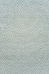 On Sale Diamond Indoor/Outdoor Rug in Light Blue and Ivory - 4 x 6 Feet