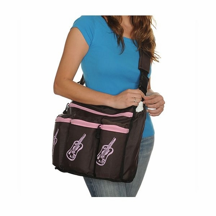 On Sale Diaper Diva Messenger Diaper Bag in Brown & Pink Guitar