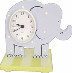 On Sale Elephant Table Clock - Pale Pink/White