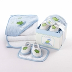 On Sale Finley the Frog Four-Piece Hatbox Bath Time Gift Set