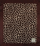 On Sale Giraffe Velour Baby Blanket with Satin Back - Brown and Butter
